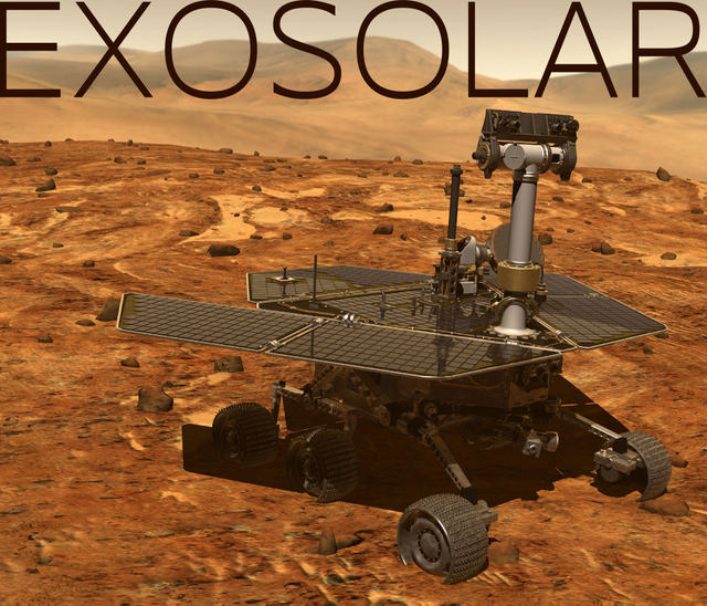 Exosolar: a solar powered robot in a harsh environment