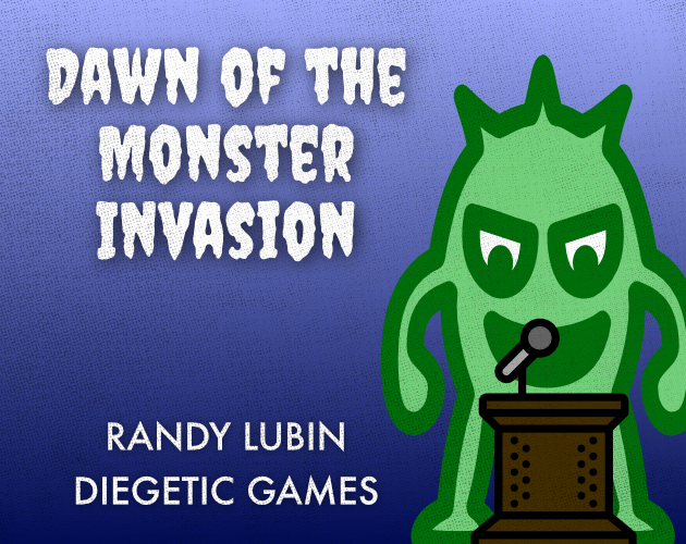 cover of the game: a monster at a podium