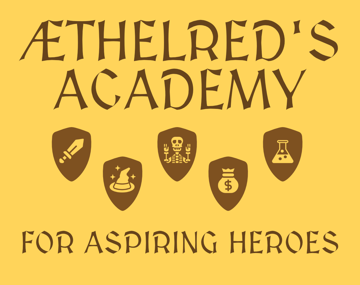 Æthelred's Academy for Aspiring Heroes logo